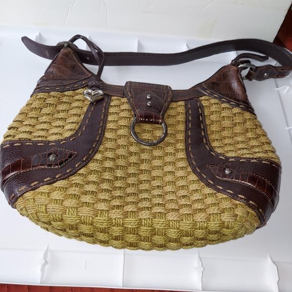 Brighton woven purse handbag brown